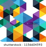 multicolored triangles abstract ... | Shutterstock .eps vector #1156604593