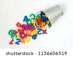 colorful plastic numbers and... | Shutterstock . vector #1156606519