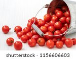 organic tomatoes spilled out... | Shutterstock . vector #1156606603