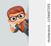 thumb up hand gesture corner... | Shutterstock .eps vector #1156607353