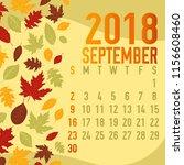 september autumn  fall calendar ... | Shutterstock .eps vector #1156608460