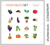 vegetables icons set with...   Shutterstock .eps vector #1156609699