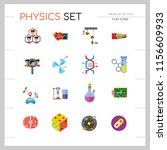 physics icon set. galaxy...   Shutterstock .eps vector #1156609933