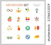 metaphors vector icon set.... | Shutterstock .eps vector #1156611019