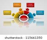 business presentation diagram... | Shutterstock .eps vector #115661350