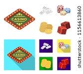 domino bones  stack of chips  a ...   Shutterstock .eps vector #1156613860