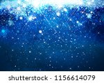 winter   blue  snowflakes... | Shutterstock . vector #1156614079
