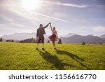young couple in traditional... | Shutterstock . vector #1156616770