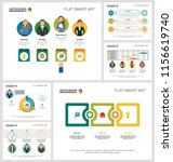 colorful diagrams set for... | Shutterstock .eps vector #1156619740