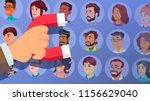 customer retention vector.... | Shutterstock .eps vector #1156629040