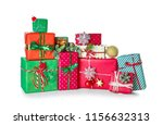 christmas gift boxes and... | Shutterstock . vector #1156632313