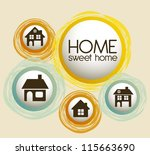 illustration of home icons ... | Shutterstock .eps vector #115663690