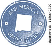 new mexico map vintage light... | Shutterstock .eps vector #1156642720