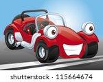 cartoon red kit car