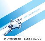 artificial intelligence robotic ...   Shutterstock .eps vector #1156646779