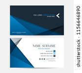 business card vector background | Shutterstock .eps vector #1156646890