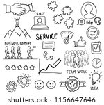 sketch of customer loyalty... | Shutterstock .eps vector #1156647646