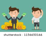 poor and rich man.vector... | Shutterstock .eps vector #1156650166