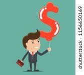 businessman and dollar shape...   Shutterstock .eps vector #1156650169