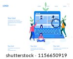 concept human resources ... | Shutterstock .eps vector #1156650919