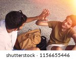 young teenage students... | Shutterstock . vector #1156655446