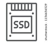 ssd line icon  electronic and...   Shutterstock .eps vector #1156656529