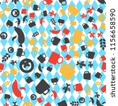 oktoberfest seamless pattern.... | Shutterstock .eps vector #1156658590