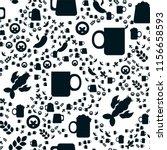 oktoberfest seamless pattern.... | Shutterstock .eps vector #1156658593