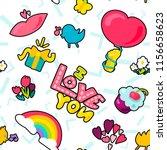 vector romantic love seamless... | Shutterstock .eps vector #1156658623