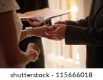 couple getting married | Shutterstock . vector #115666018