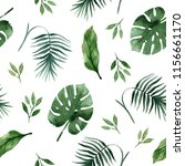 trendy tropical seamless... | Shutterstock . vector #1156661170