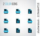 types icons colored set with... | Shutterstock . vector #1156664713