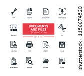 documents and files   flat... | Shutterstock .eps vector #1156674520