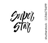 hand drawn lettering with... | Shutterstock .eps vector #1156675699