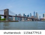 view of manhattan skyline and...   Shutterstock . vector #1156677913
