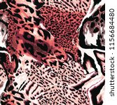 Seamless Wild Red Safari Skin - Fine Art prints