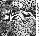 Monochrome Seamless Wild Safari Skin - Fine Art prints
