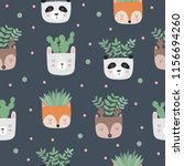 vector seamless pattern with... | Shutterstock .eps vector #1156694260