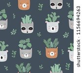 vector seamless pattern with... | Shutterstock .eps vector #1156694263