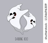 dabbing boo ghost | Shutterstock .eps vector #1156696309