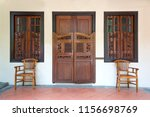 antique old wooden door and... | Shutterstock . vector #1156698769