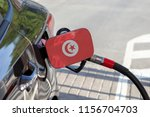 flag of tunisia on the car's... | Shutterstock . vector #1156704703