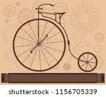 steampunk vintage metal... | Shutterstock .eps vector #1156705339