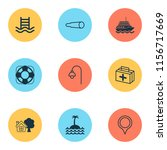 travel icons set with swimming...   Shutterstock .eps vector #1156717669