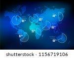 business vector slide design... | Shutterstock .eps vector #1156719106