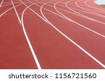 Red Sport Track For Running On...