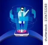 medical doctor smart wristwatch ... | Shutterstock .eps vector #1156722283