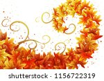 wreath of autumn leaves in a...   Shutterstock .eps vector #1156722319
