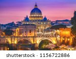 st. peter's basilica in rome ... | Shutterstock . vector #1156722886