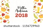 autumn horisontal vector card ... | Shutterstock .eps vector #1156729963